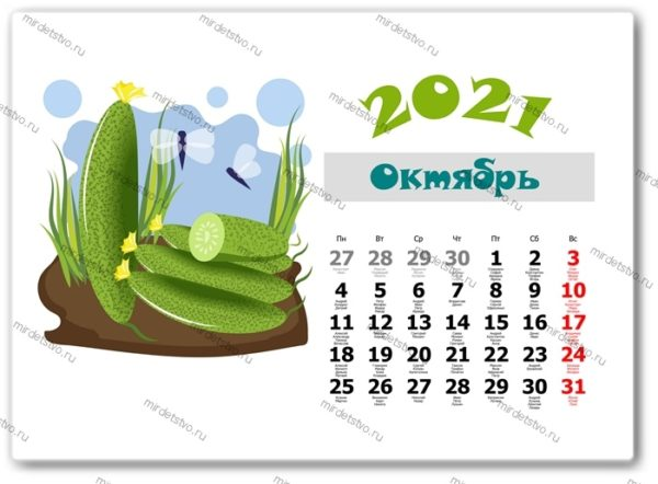 календарь фрукты 010-10